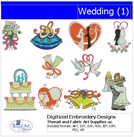 Machine Embroidery Designs - Wedding(1) - Threadart.com