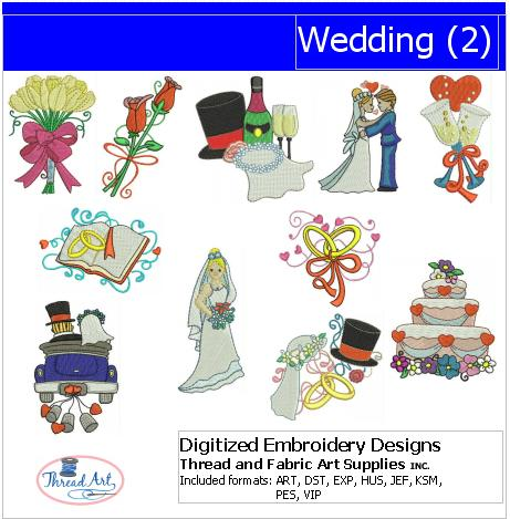 Machine Embroidery Designs - Wedding(2) - Threadart.com