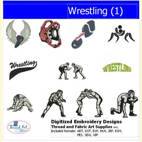 Machine Embroidery Designs - Wrestling(1) - Threadart.com