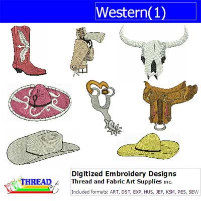 Machine Embroidery Designs - Western(1) - Threadart.com