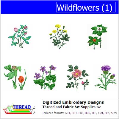Machine Embroidery Designs - Wildflowers(1) - Threadart.com