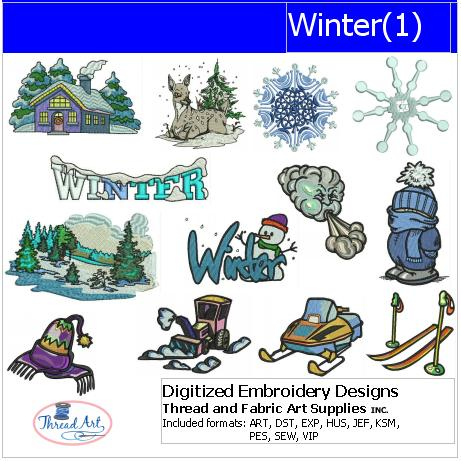 Machine Embroidery Designs - Winter(1) - Threadart.com