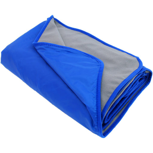 "Waterproof Picnic Blanket - 79""x55"" - Royal Blue/Grey - Camping Sports - Threadart.com"