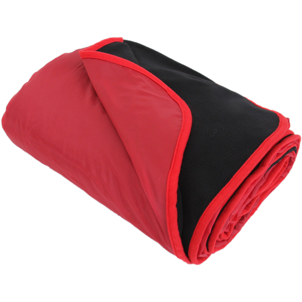 "Waterproof Picnic Blanket - 79""x55"" - Red/Black - Camping Sports - Threadart.com"