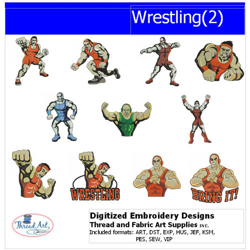 Machine Embroidery Designs - Wrestling(2) - Threadart.com