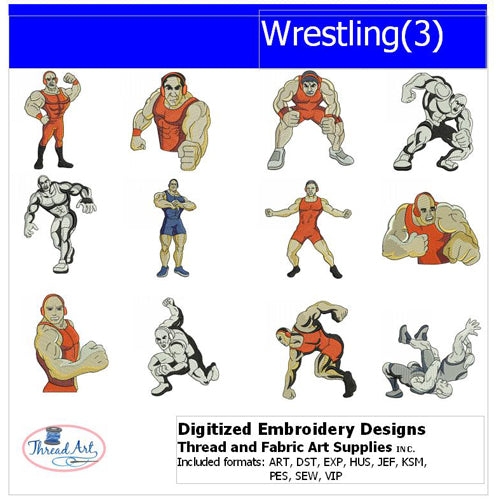 Machine Embroidery Designs - Wrestling(3) - Threadart.com