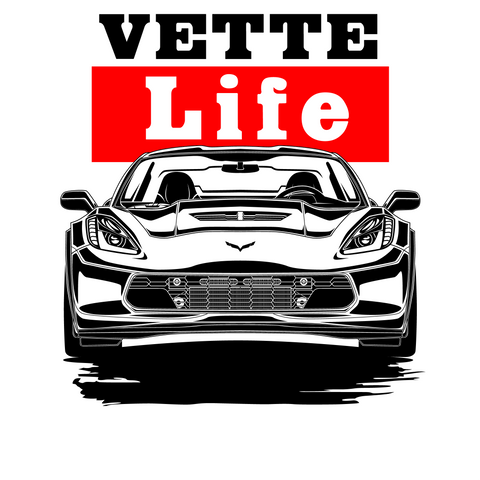 Corvette C7 Custom TShirt Designs and Illustrations