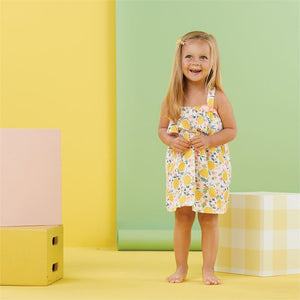 Lemon Floral Toddler Dress