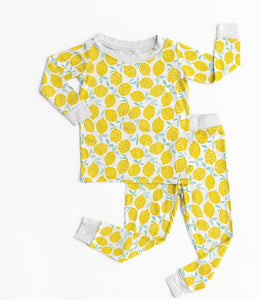 Lemons Two-Piece Bamboo Viscose Pajama Set