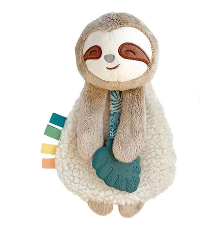 Itzy Lovey Plush & Teether Toy-Sloth