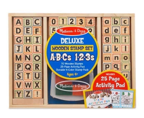 Letters and Numbers Stamp Set with Activities