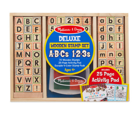 ABC 123 Wooden Stamp Set