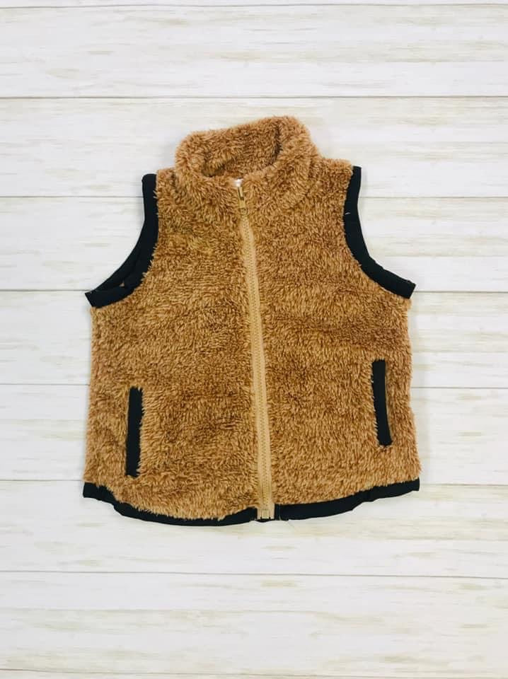 Fuzzy Brown Vest