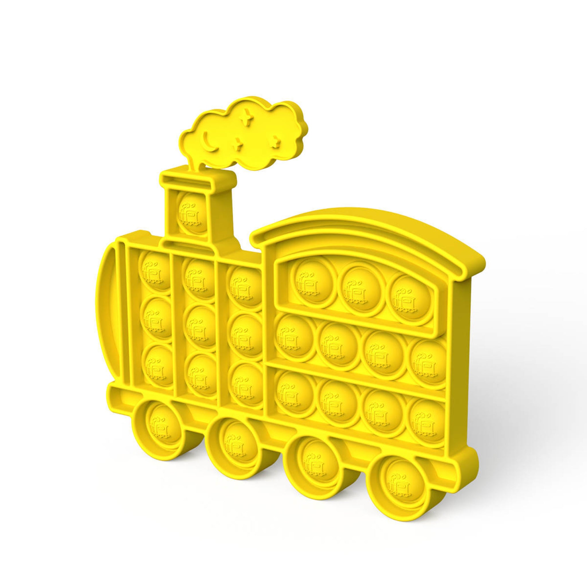 Yellow Train Fidget Popper
