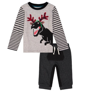 Dino with Antlers Jogger Set