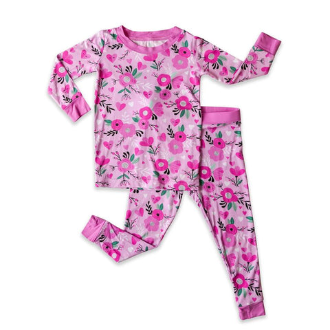 Sweetheart Floral Two-Piece Bamboo Viscose Pajama Set