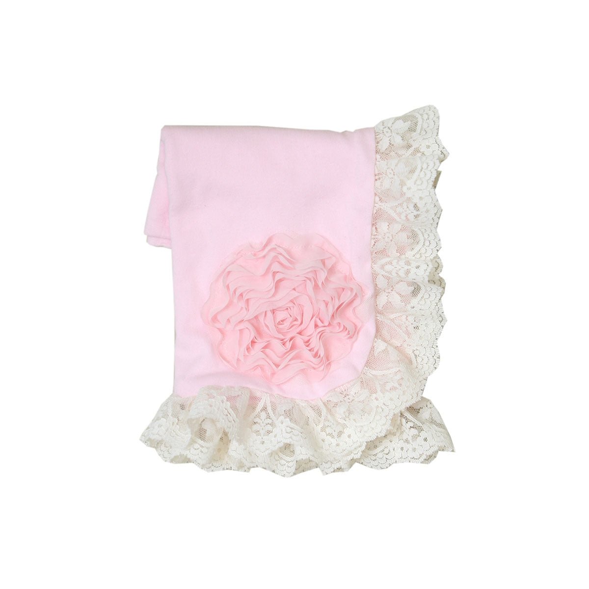 Haute Baby Pink Lullaby Receiving Blanket