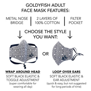 ADULT FACE MASK – Grey/Small White Flecks
