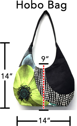 Hobo Bag Black Lotus
