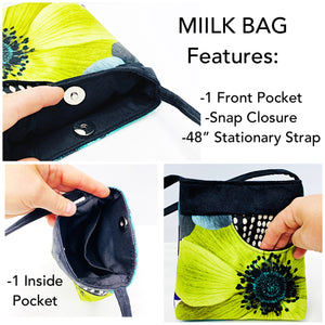 MIILK Bag Geometric Pattern – Black & White Wavy Dots