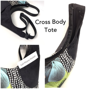 Cross Body Mardi Gras Green Lime Flower