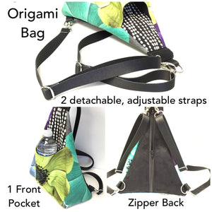 Origami Bag Geometric Pattern