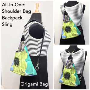 Origami Bag Chocolate Brown Flower