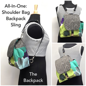 Backpack Lime Flower