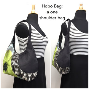 Hobo Bag Yellow/Grey Zig Zag
