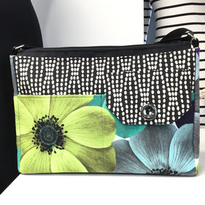 Laptop/Travel Bag Lime Flower