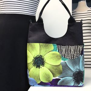 Extra Large Tote Lime Flower