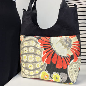 Extra Large Tote Orange/Grey Seed Pod