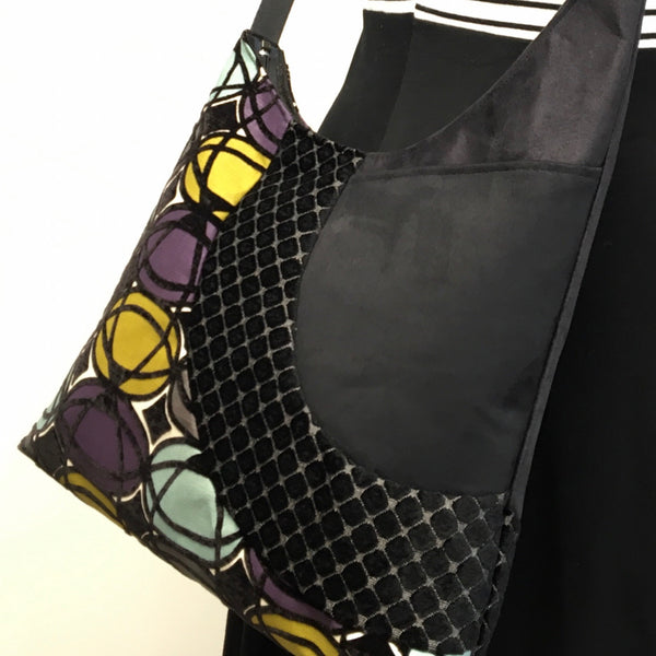 Cross Body Tote Geometric Pattern