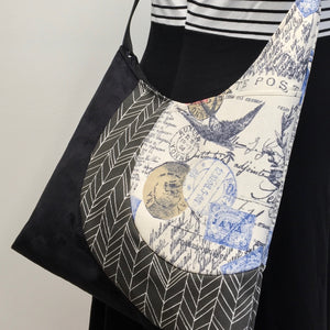 Cross Body Tote Travel Stamp
