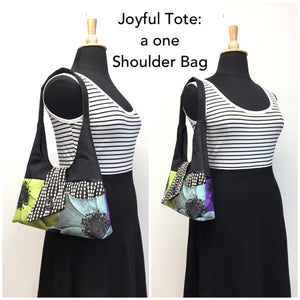 Joyful Tote Cream Watercolor Poppy