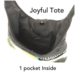 Joyful Tote Geometric Pattern