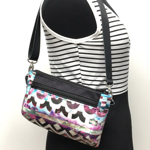 Hip Bag Purple Chevron