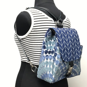 Backpack Navy Blue Mermaid Scales