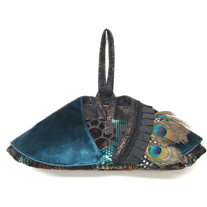 Winged Wristlet Peacock Feather
