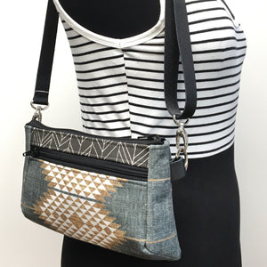 Hip Bag Gold/Grey Diamond