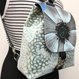 Backpack Spa Blue Flower