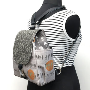 Backpack Grey Tree/Orange Sun