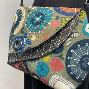 Tiger Lily Bag 60s Grey Green & Multi-Color
