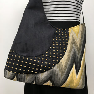 Cross Body Yellow/Grey Zig Zag