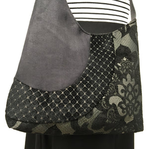 Cross Body Black Lotus Flower