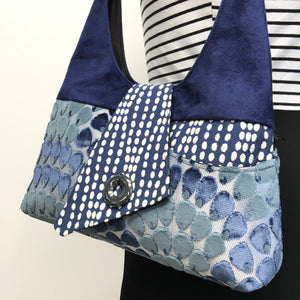 Joyful Tote Navy Blue Mermaid Scales