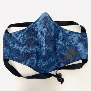 ADULT FACE MASK - Dark Blue Smoke