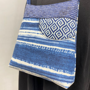 MIILK Bag Indigo/Navy Blue/White Stripes