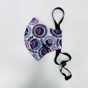 ADULT FACE MASK - Folk Flower Purples