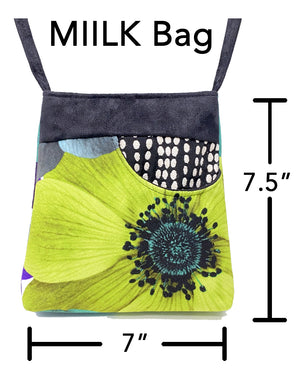 MIILK Bag Folk Flower Stripes Grey/Cream/Black